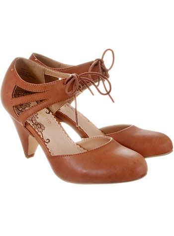 Whiskey Cake Cut-Out Maryjane Pumps at PLASTICLAND