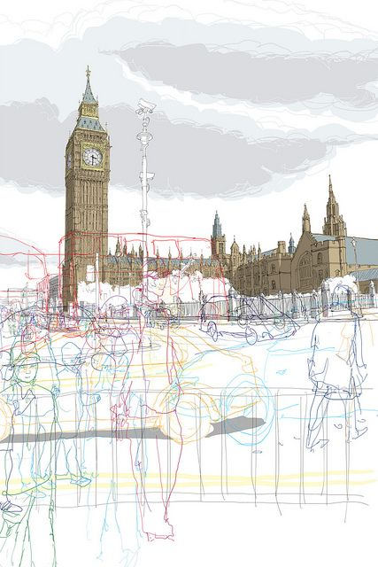 Big Ben-Traffic  by Rupert.vanwyk, via Flickr
