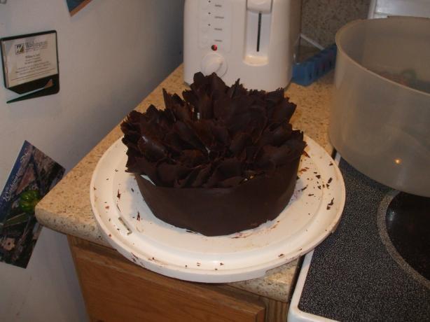 Chocolate Raspberry Genoise Ruffle Cake