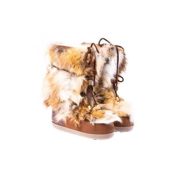 Dsquared2 Fox Fur Moon Boot ($383) ❤ liked on Polyvore