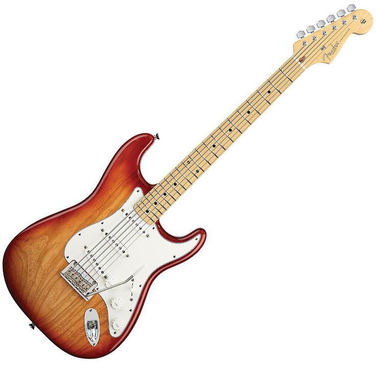 fenderamerican standard stratacaster   The Redesigned Fender American Standard Stratocaster Electric Guitar!