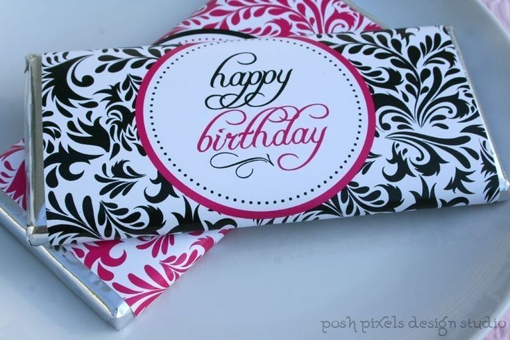 printable candy bar wrappers - happy birthday