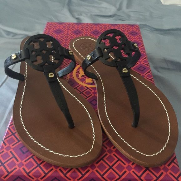 Tory Burch Mini Miller Brand New Never. Size 8.5 Color Navy Tory Burch Shoes Sandals