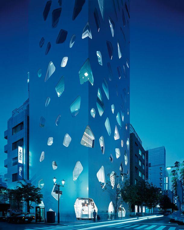 Glass Boulder Tower - Architect Toyo Ito | jebiga | #architecture