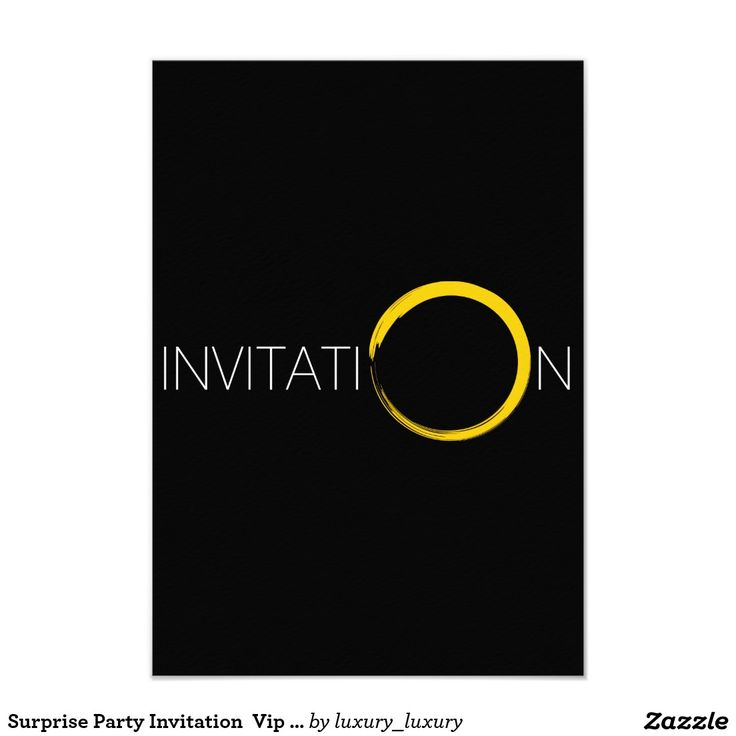 Surprise Party Invitation  Vip Invitation
