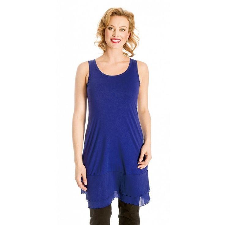 Blue Mesh Slip ~ Best selection of Tunics & matching accessories ~ Flat postage worldwide ~ Petite to Plus sizes ~ www.ilovetunics.com