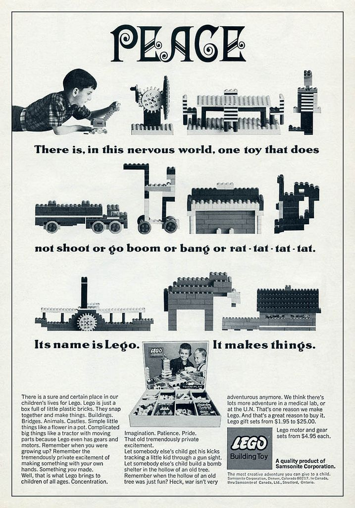 "Lego Anti-War Ad | The Very Best Ads From The ""Mad Men"" Era"