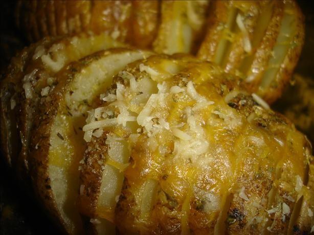 microwave cheesy sliced baked potatoes