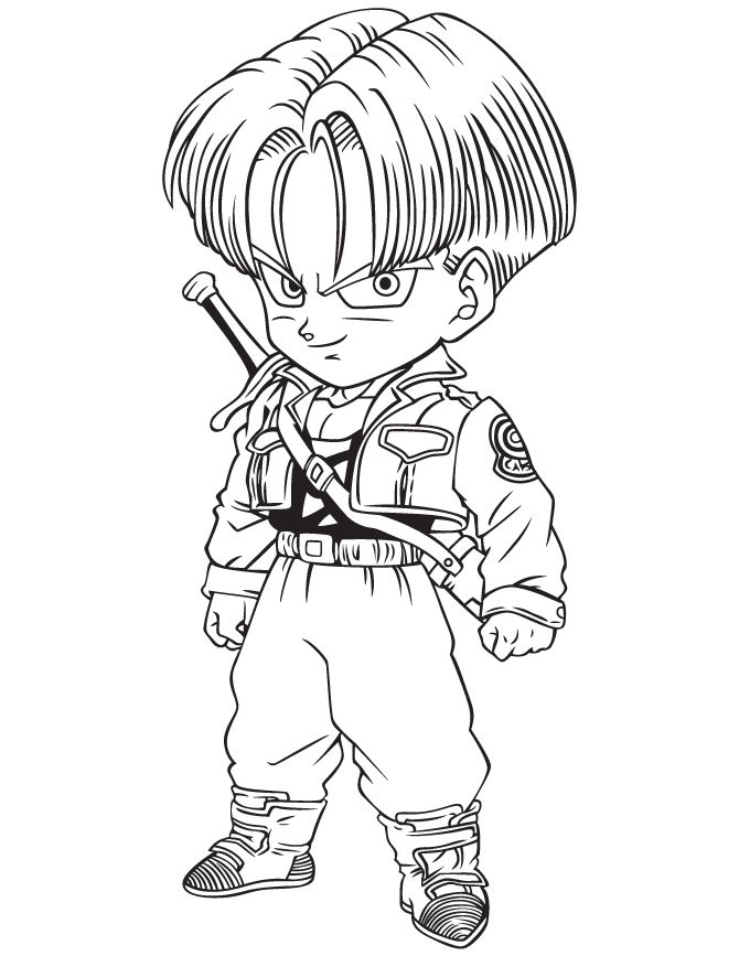 Trunks of dragon ball z coloring pages enjoy coloring for Dbz color pages