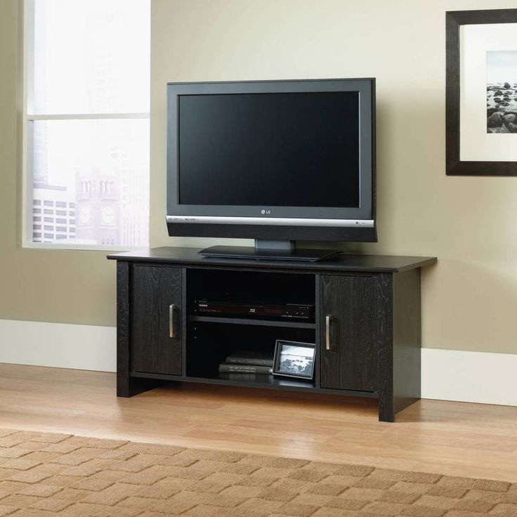 """TV Stand For Flat Screen TVs up to 42"""" Entertainment Media Center Storage Wood #Mainstays #Contemporary"""