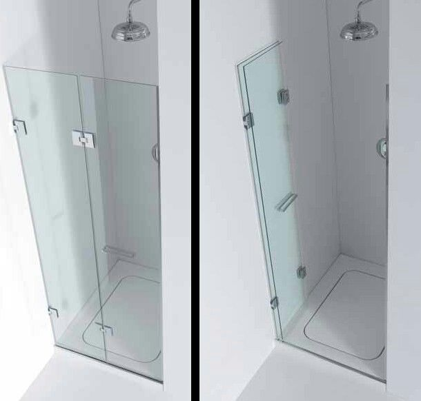Folding shower screen