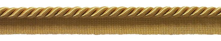 "10 Yard Value Pack of Medium 5/16"" Basic Trim Lip Cord Style# 0516S Color: GOLD - C4"