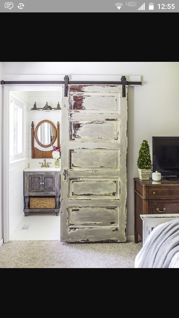 This... Or a pocket door!