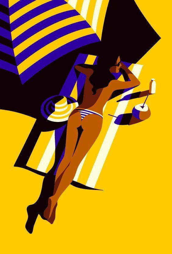 "Malika Favre, ""Summer"". > http://malikafavre.com/  #sexy #swimsuit #popart"