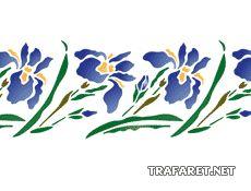 Frontera oriental Iris (stencil para la decoración)