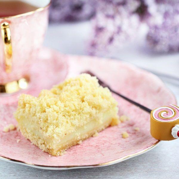 Bezglutynka: Bezglutenowe ciasto budyniowe z mleczną kruszonką