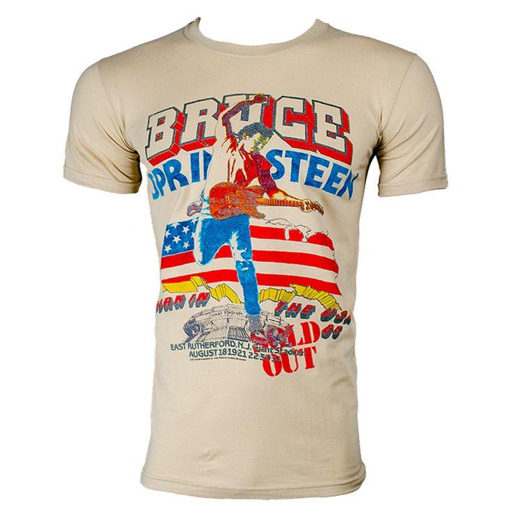 Bruce Springsteen Tour T Shirt (Cream)