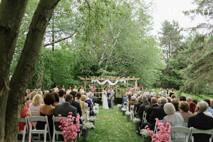 #wedding #weddingday #backyard #inspiration #ideas #simple #green #outdoors #couple #bride #groom #aisle
