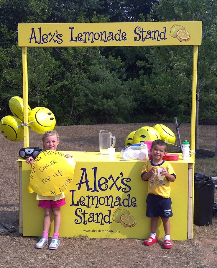 17 best images about causes on pinterest lemon cakes for Kids lemonade stand plans
