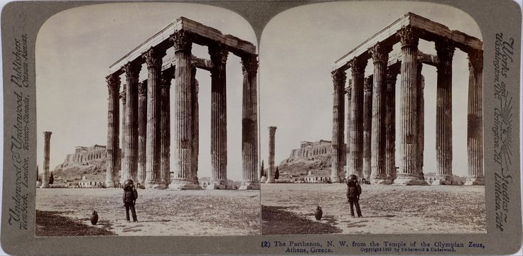 File:Underwood & Underwood - The Temple of Olympian Zeus and the Acropolis in the background. 1897. Underwood & Underwood (Details of artist on Google Art Project)