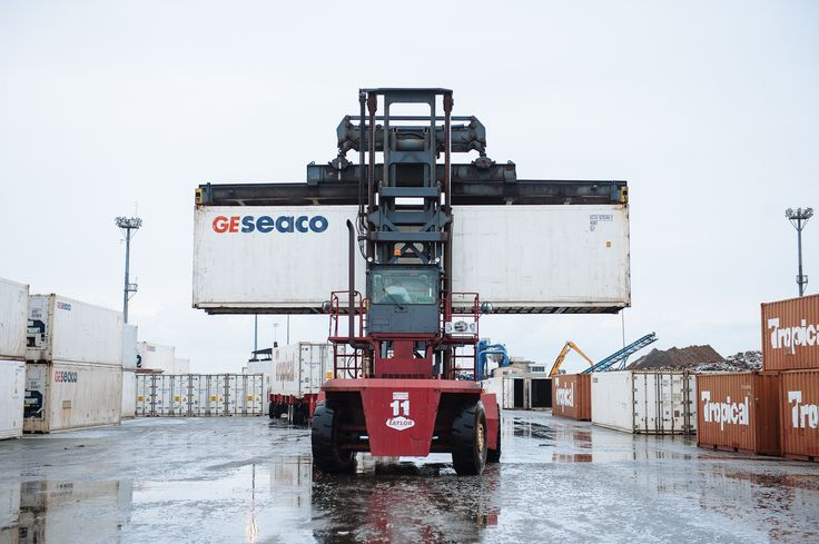 Container operations.  #port #saintjohn #trade #containers