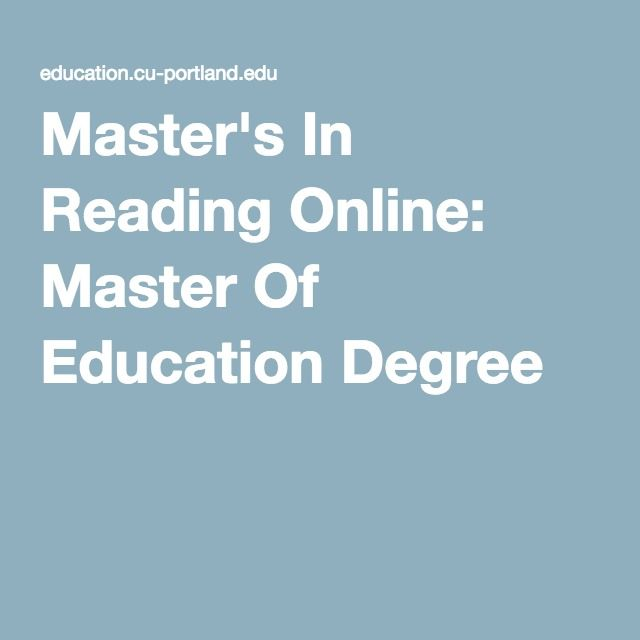 Master's In Reading Online: Master Of Education Degree
