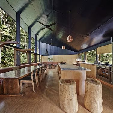 """Cooper pendants in Cape Tribulation House by M3 Architecture. Image: Peter Bennetts"""""""