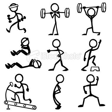 Stickfigure Fitness Royalty Free Stock Vector Art Illustration