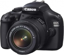 """Canon EOS 1100D SLR Digital Camera: """"The EOS 1100D / T3 is a great entry-level DSLR camera that's well-suited to its beginner target audience. The combination of proven metering, auto-focus and processing systems with a sensible 12 megapixel sensor and simplified control layout is a winning one."""""""