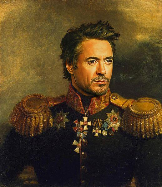 Robert Downey Jr print by replaceface - via www.murraymitchell.com