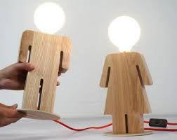 Image result for kids handmade wooden lamps