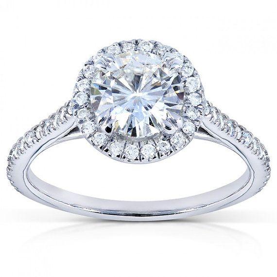 Moissanite tour and Diamond Engagement Ring CTW 1 1/4 par Kobelli