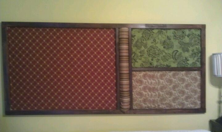 Fabric Headboard Made With Screen Door Frame Stuff To