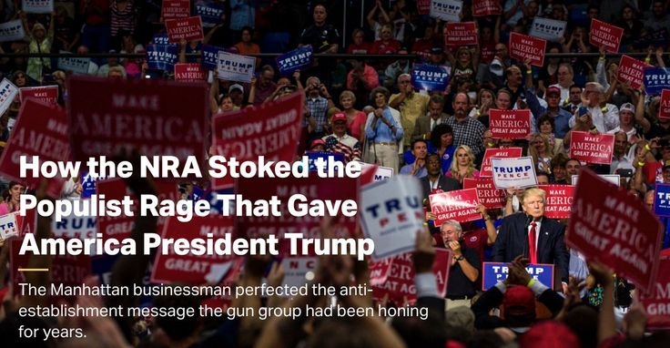 Trump brought NRA's fearful rhetoric to the larger arena of mainstream politics, then rode it to the Oval Office.     ----      https://www.thetrace.org/2016/11/nra-endorsements-donald-trump-populist-rage/ …