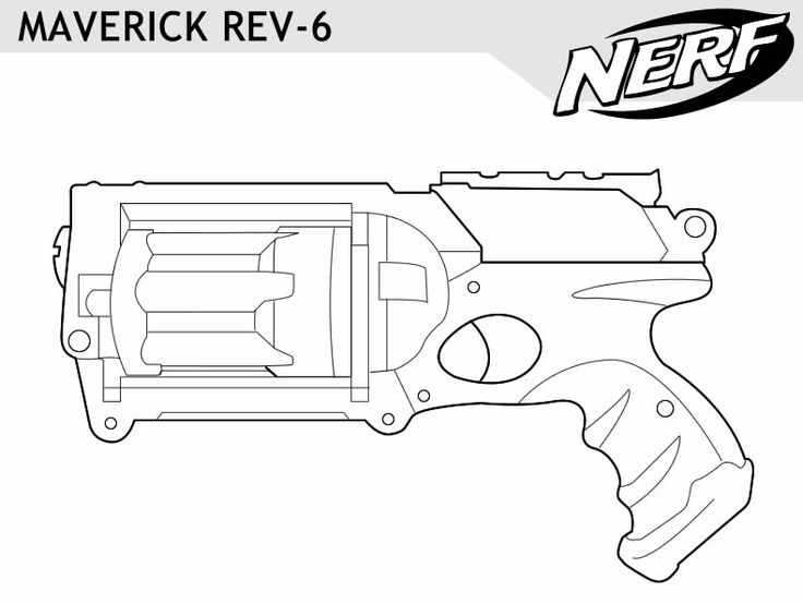 Coloring Pages Nerf Gun : Nerf gun outlines google search pinterest