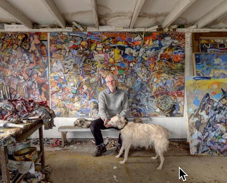 Duncan Shanks in his studio in the Clyde valley.