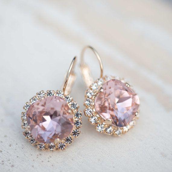 Erröten Sie Ohrringe erröten Sie rosa Tropfen von NotOneSparrow