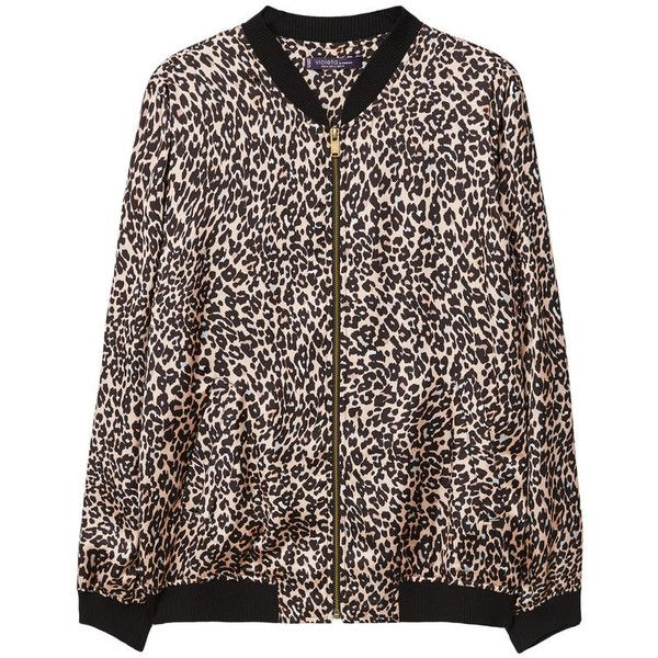 Leopard Print Bomber Jacket (67.890 CRC) ❤ liked on Polyvore featuring outerwear, jackets, bomber jacket, leopard bomber jacket, leopard print jacket, mango jackets and leopard print bomber jacket