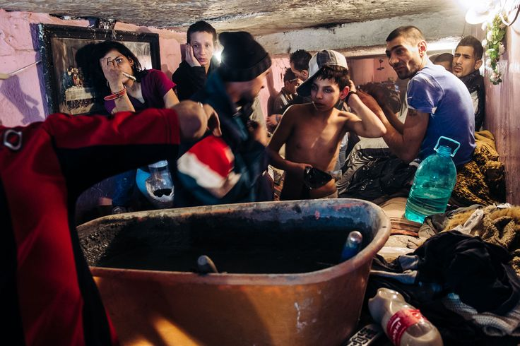 During winter, up to 40 people occupied the tunnel to stay warm, living together in a space of only a few square meters.