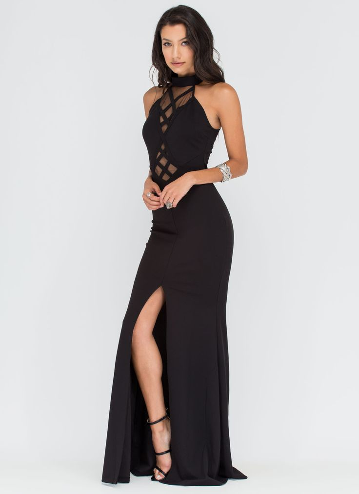 Sheer Enough Latticed Maxi Dress #dress #maxi #lattice #sheer #fashion #gojane
