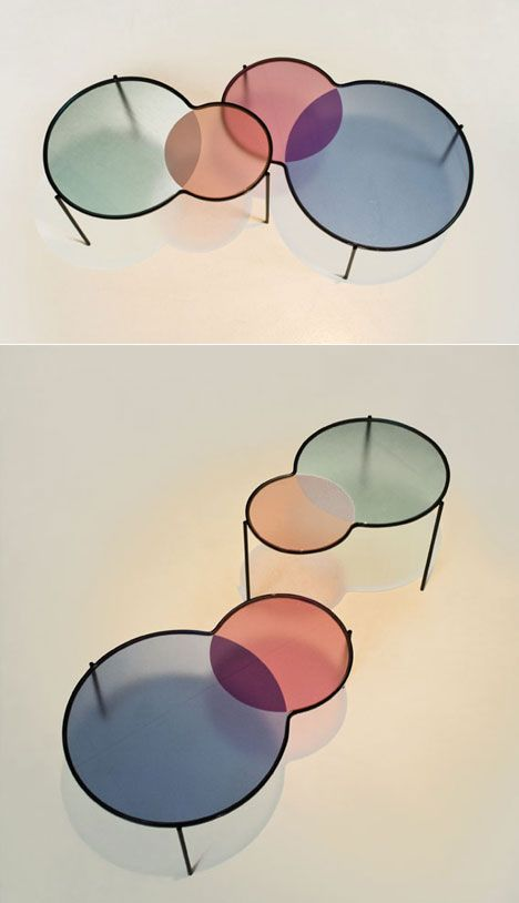Hues nesting tables by Outofstock