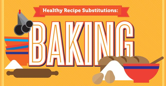 Making your favorite recipes healthier is super simple with these healthy substitutions to use when baking..