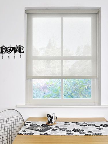 Vista Silver Grey Magic Screen Roller Blind from Blinds 2go