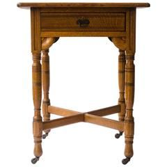Gothic Revival Oak Side Table Attributed to Bruce Talbert