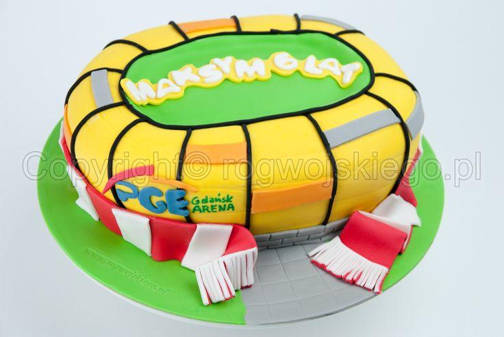 tort stadion, pge arena, lechia gdańsk, arena cake, euro 2012, gdańsk, www.rogwojskiego.pl
