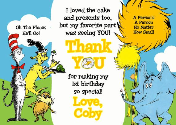 151 best Dr Seuss Birthday Party images – Dr Seuss Birthday Card