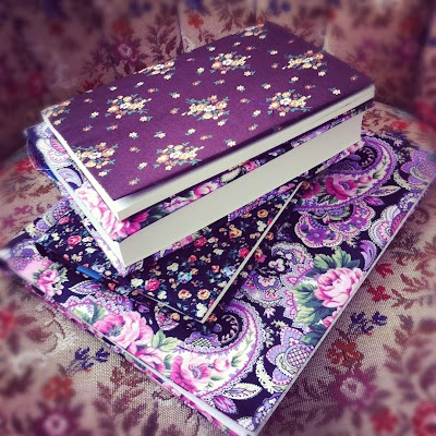 Easy DIY Fabric Book Covers!