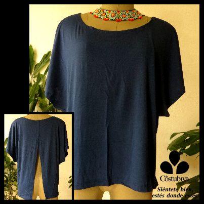 Camiseta femenina con abertura en espalda, no tienes que levantar los brazos y tienes la espalda descubierta en caso de heridas. Encuentra más en www.costubiva.com