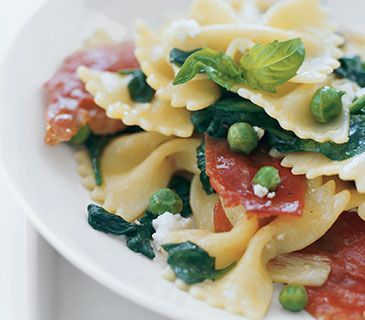 Farfalle With Spinach and Peas | Food | Pinterest