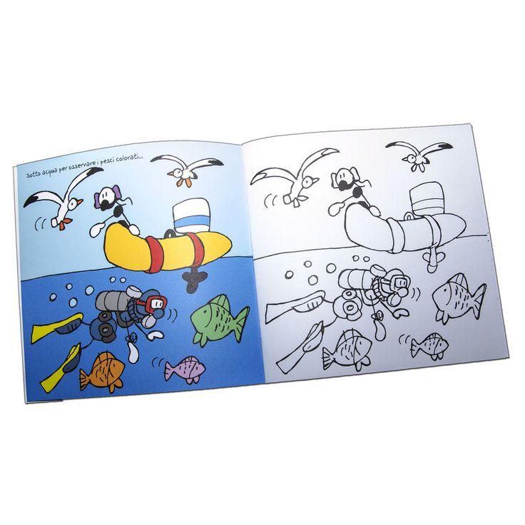 """Libro da colorare """"Mestieri e Vigili del Fuoco""""   Le Formiche di Fabio Vettori #formiche #fabiovettori #librodacolorare #colorami #colors #italia #kids #gift #regalo #vigilidelfuoco #mestieri #mare"""